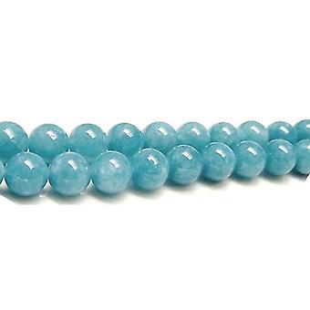 Aktionsbereich 45 + blauen Schwamm Quarz 8mm einfache Runde Perlen GS2666-3