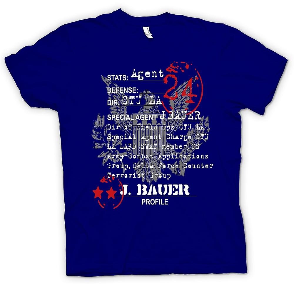 Heren T-shirt - 24 Jack Bauer CTU Agent CIA - TV - film