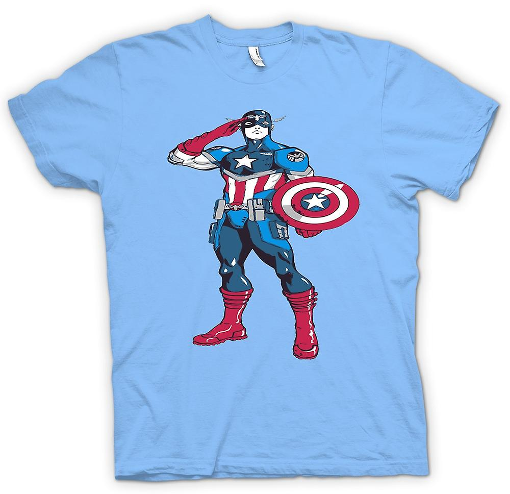 Heren T-shirt - superheld Captain America - schets