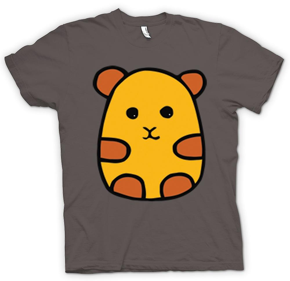 Womens T-Shirts-Cartoon-Hamster-Design