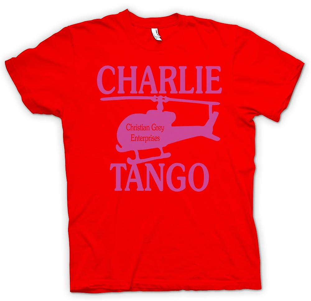 Hommes T-shirt - Christian Grey Enterprises - Charlie Tango