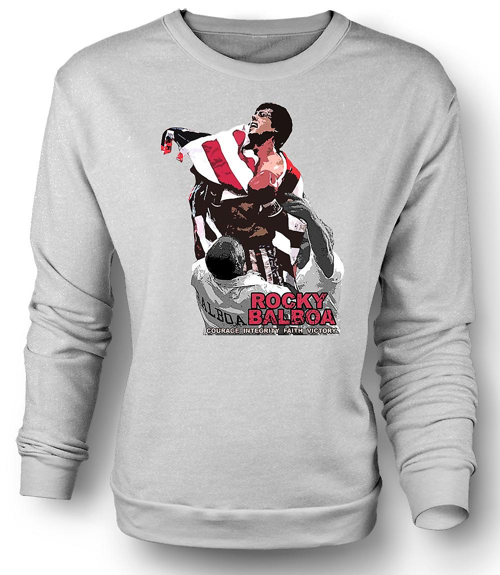 Mens Sweatshirt Rocky Balboa - Courage - Boxing Movie