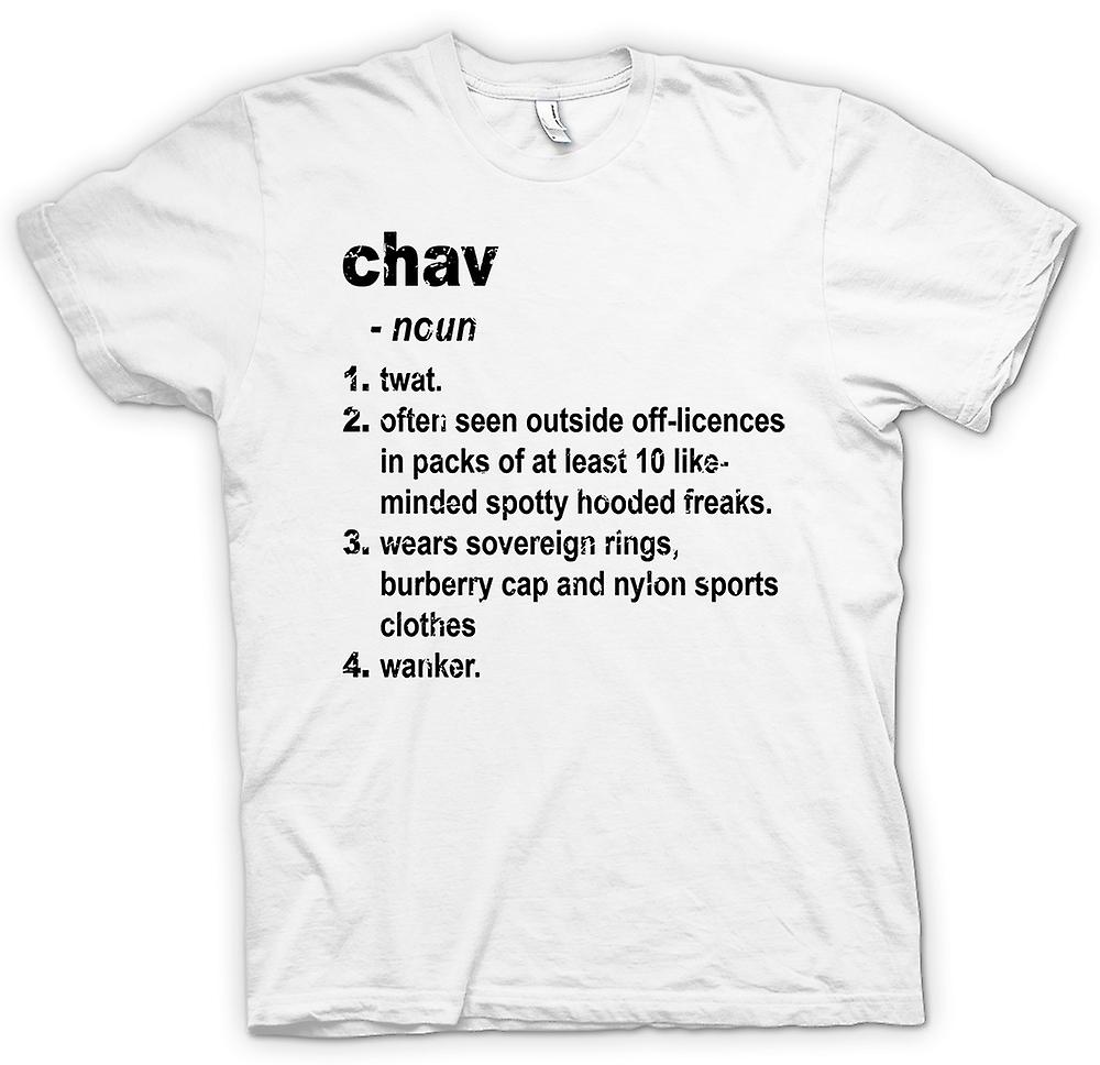 Mens T-shirt - Chav Defination - Brilliantly Funny Dictionary