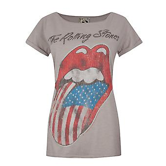 Amplified Boutique Rolling Stones USA Tour 2 Women's T-Shirt Pink