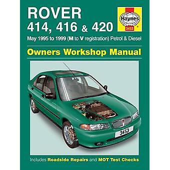 Rover 414-416, 420 bensin och Diesel Service och reparation Manual-