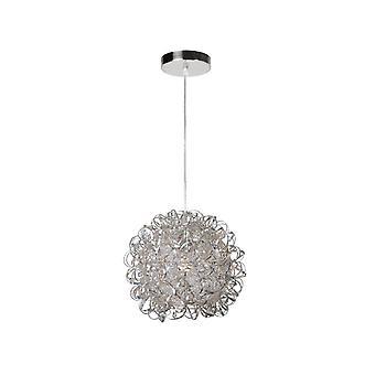 Lucide middag moderne ronde aluminium Satin Chrome Pendant Light