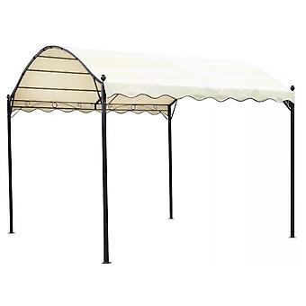 Abri de voiture tonnelle barnum pavillon tente de jardin métal beige 2202067