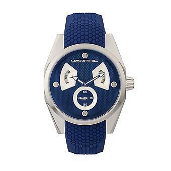 Morphic M34 Series Men's Watch w/ Day/Date - Silver/Blue