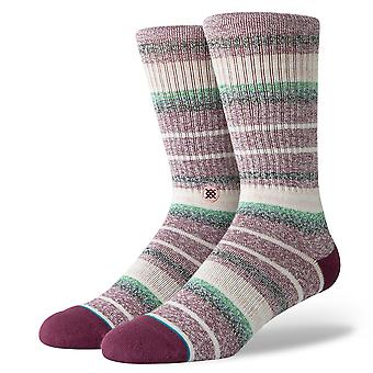 Stance Foundation Mens Socks ~ Thirri maroon (size L)