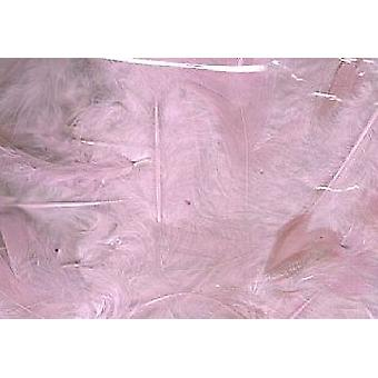 5g Pale Pink Fluffy Craft Feathers | Scrapbooking Card Making Embellishments