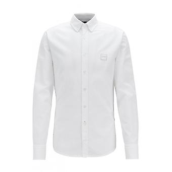 Hugo Boss Casual Hugo Boss Mens White Mabsoot Shirt