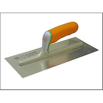 Faithfull Plasterers Stainless Finishing Trowel Soft Grip Handle 11in x 4.3/4in