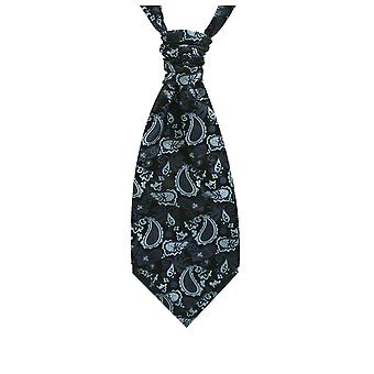 Dobell Boys Navy Blue Paisley Silk Cravat Pre-Tied