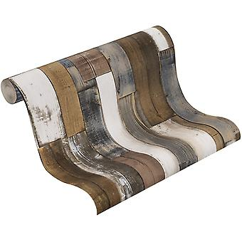 Reliëf houten paneel Effect getextureerde behang houten balk rustieke Industrial