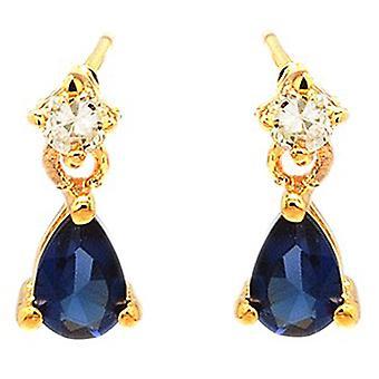 Ah! Bijoux Womens saphir poire cristaux de Swarovski boucles d'oreilles