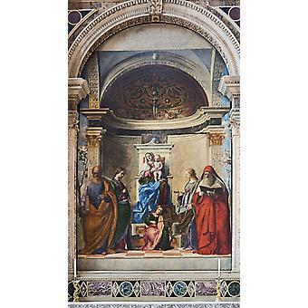 Saint Zaccaria Altarpiece, Giovanni Bellini, 60x34cm