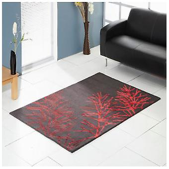 Rugs -Unique Flourish - Charcoal & Red