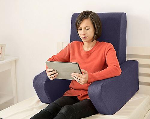 Reading Foam Soft Backrest Wool Effect CushionSapphire 'una' 8Oknw0P