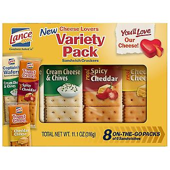 Lance Cheese Lovers Variety Pack Sandwich Crackers