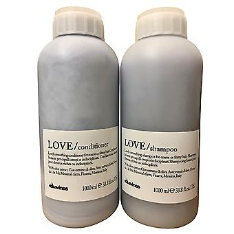 Davines liefde mooie smoothing shampoo & conditioner set kroeshaar 33,8 OZ