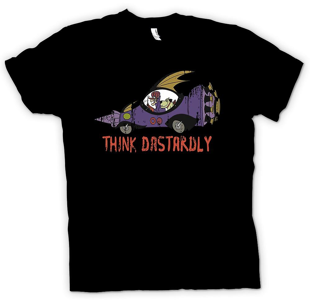 Womens T-shirt - Think Dastardly - Funny