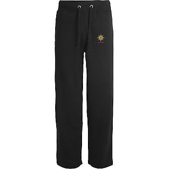 Irish Guards Veteran - Licensed British Army Embroidered Open Hem Sweatpants / Jogging Bottoms