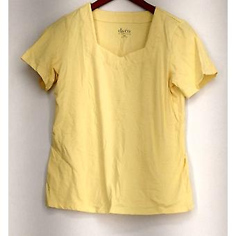 Denim et Cie Essentials Perfect Jersey Short Sleeve Top Jaune A215870