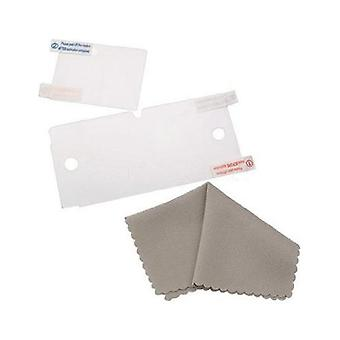 4 in 1 full screen protector pack for nintendo 3ds inc cleaning cloth and applicator card