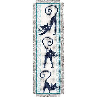 Cheerful Cats Bookmarks On Aida Counted Cross Stitch Kit-2.5