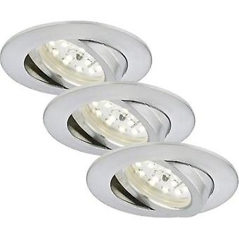 LED flush mount light 3-piece set 15 W Warm white Briloner 7209-039 Aluminium