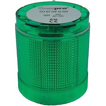 Signal tower component LED ComPro CO ST 70 Green Non-stop light signal, Flasher 24 Vdc, 24 Vac 75 dB