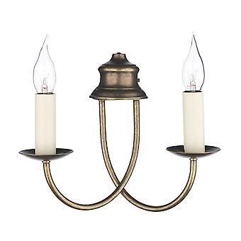 Dar Bermuda BE28 Traditional Wall Lights Double