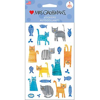 Mrs. Grossman's Stickers-Collaged Cats 13545