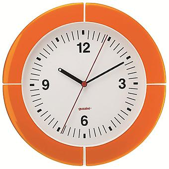 Guzzini i-Clock Orange Wanduhr