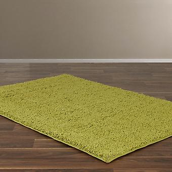 Retro Plain Shaggy Rugs In Lime