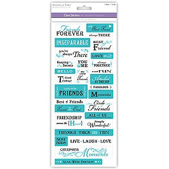 MultiCraft Family & Friends Clear Stickers-Friends Forever SS495T