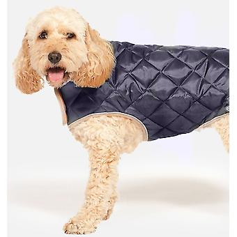 Quilted Dog Coat Navy 45cm (18