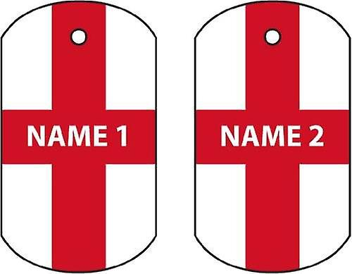 Personalised England Dog Tag Car Air Freshener