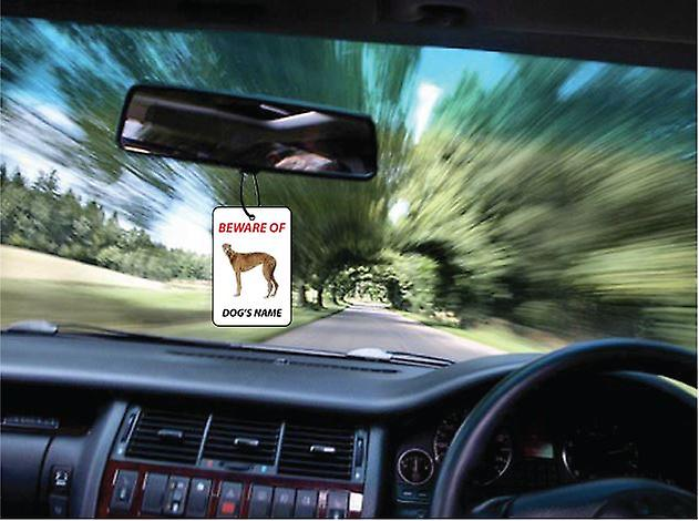 Personalised Greyhound Dog Car Air Freshener
