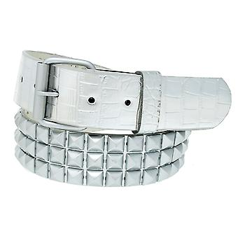 ALL SILVER studs fashion belt