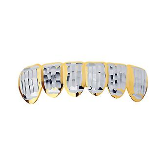 Gold Grillz - one size fits all - Diamond cut ONE - bottom