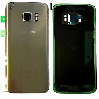 Samsung GH82-11384C battery cover cover for Galaxy S7 G930 G930F + adhesive pad gold