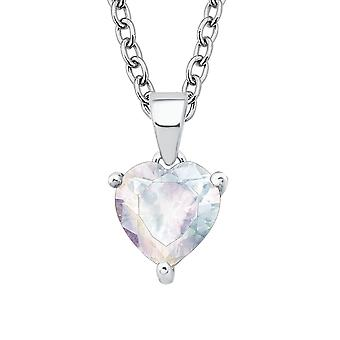 Princess Lillifee child kids necklace silver cubic zirconia heart 2017935