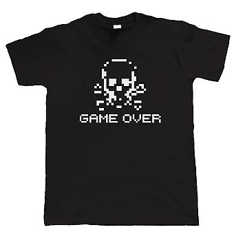 Vectorbomb, Game Over Retro Skull and Crossbones, Funny Mens Tshirt (S to 5XL)
