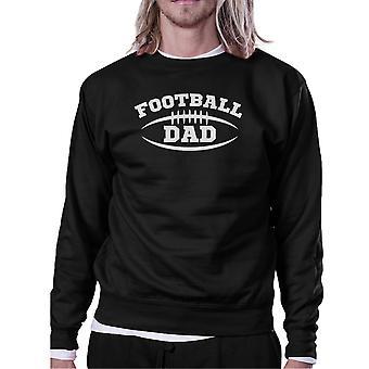 Football Dad Men Black Funny Design Sweatshirt For Football Fan Dad