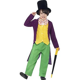 Costume bambino Willy Wonka Schokoladenfarbik