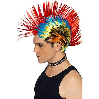 Iroquois punk colorful 80s Street wig punk IRO