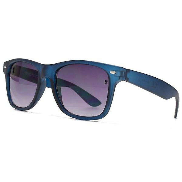 Fenchurch Keyhole Wayfarer Style Sunglasses In Matt Dove Blue