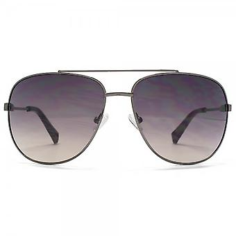 SUUNA Bali Aviator Sunglasses In Shiny Gunmetal
