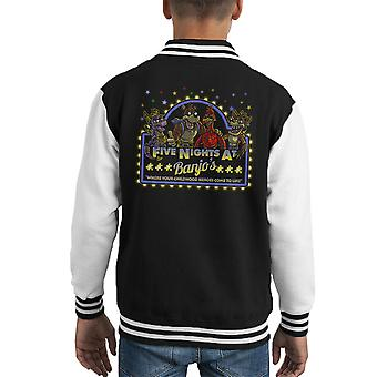 Five Nights At Banjos Freddies Kazooie Kid's Varsity Jacket